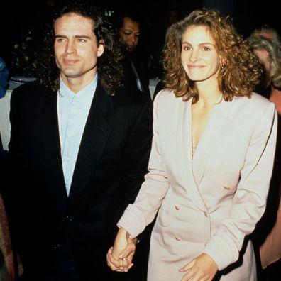 Jason Patric and Julia Roberts in December 1991.