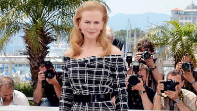 Kidman wearsChristian Dior Couture for a photocall promoting 'Hemingway & Gellhorn' at the 2012 Cannes film festival.