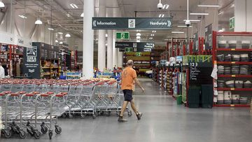 A man spat on another man during a dispute at a Bunnings Warehouse in Sydney.