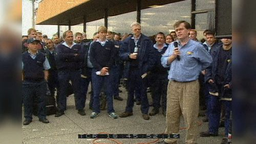 16-thousand Ansett workers were told the company couldn't be saved in the aftermath of 9/11. Picture: 9NEWS