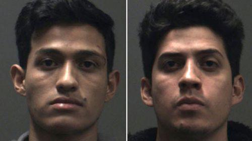 Rony Aristides Castaneda Ramirez, 28, and Josue Daniel Castaneda Ramirez, 19, are accused of killing Joseph Melgoza and assaulting two men, according to the police.
