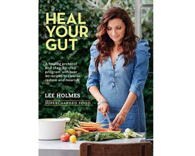 """<a href=""""https://www.murdochbooks.com.au/browse/books/healthy-cooking/Heal-Your-Gut-Lee-Holmes-9781743365601"""" target=""""_top""""><em>Heal Your Gut</em> by Lee Holmes (Murdoch Books), RRP $29.99.</a>"""