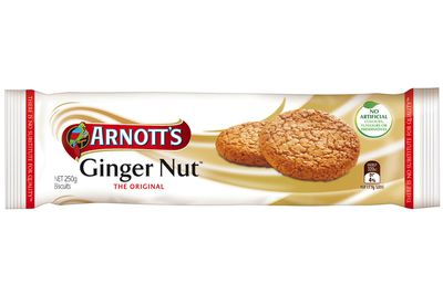 Ginger Nut: Up to 5.7g sugar per biscuit