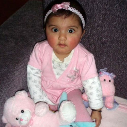 As a baby Trisha was slow to learn how to sit and walk.