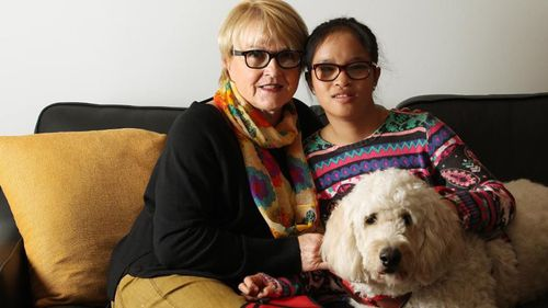 Doris Dehm was travelling from Melbourne to Sydney on Jetstar on Saturday, along with her 16-year-old daughter Anna and her service-dog Dalma.