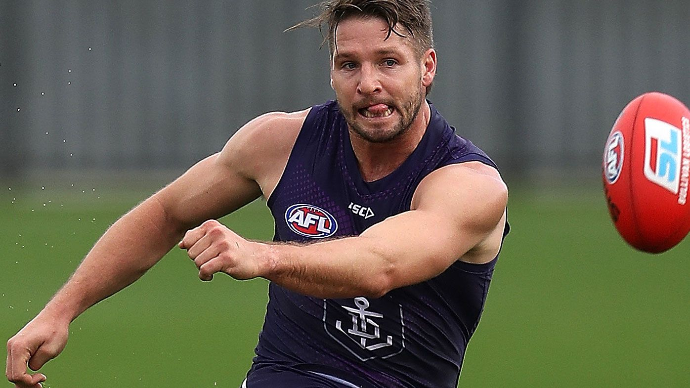 Jesse Hogan officially joins GWS Giants from Fremantle Dockers in three-way trade