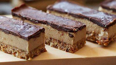 "Recipe: <a href=""https://kitchen.nine.com.au/2016/05/05/11/23/brooke-merediths-raw-vegan-caramel-slice"" target=""_top"">Brooke Meredith's raw caramel slice</a>"
