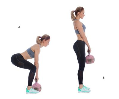 <strong>Kettlebell deadlift</strong>