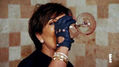 Kris Jenner drinking