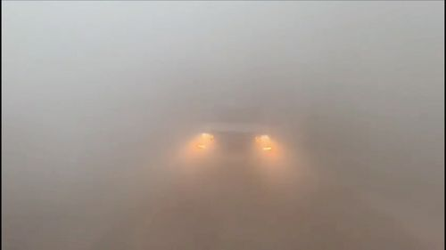 Visibility was less than five metres.