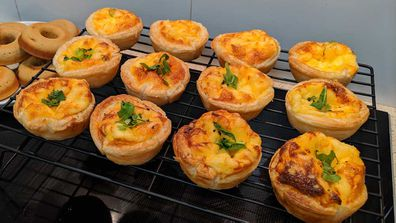 Mini quiche cook-up