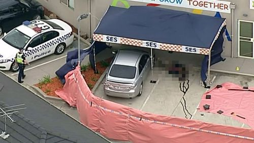 Forensics officers are examining the scene. (9NEWS)