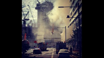 A CBD street near the construction site. (Ashleigh/ninemsn)