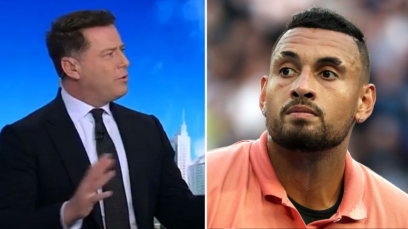 Karl Stefanovic has backed Nick Kyrgios over his criticism of the US Open going ahead