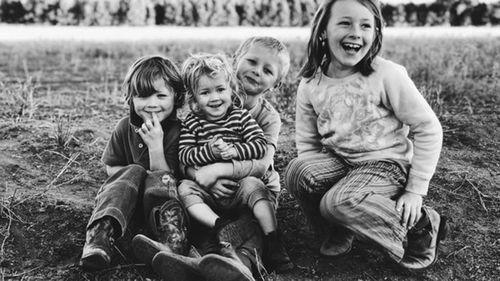 Charlie, Harry, Bonnie and Heidi Taylor.