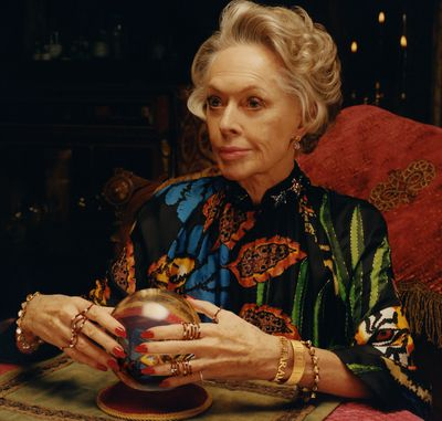 <p>Tippi Hedren for Gucci's&lsquo;Timepieces and Jewellery&rsquo; campaign, 2018.</p> <p>The 88-year-old star of <em>The Birds, Pacific Heights</em> and <em>Marnie,</em> can be seen in a series of images as a glamorous mysterious fortune teller, captured through the lens of Colin Dodgson.</p> <p>The appointment of Hedren in the campaign by the luxury label&rsquo;s creative director, Alessandro Michel, makes it something of a family affair.</p> <p>The Golden Globe winner is mother to actress Melanie Griffith and grandmother to<em> Fifty Shades</em> star, Dakota Johnson, who is the face of Gucci&rsquo;s Bloom fragrance.</p>