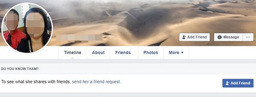 A screenshot of Facebook account from Brazil which hacked into Lisa Currie's page.