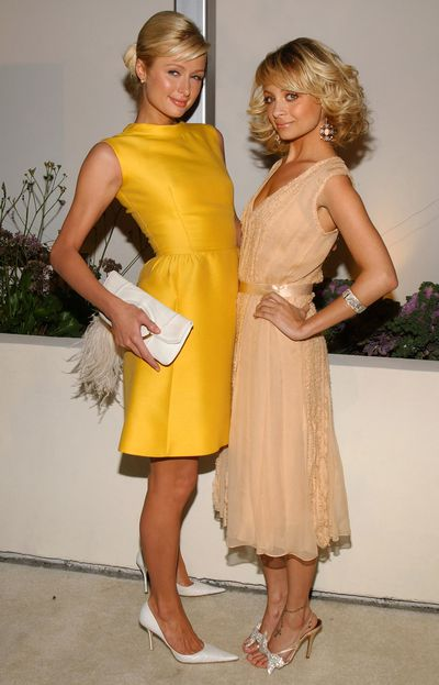 Paris Hilton and Nicole Richie at the Fox TV 'White Hot Winter' Network Party in 2005