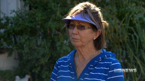 "Neighbour Annie Budiselik described the hobby farmer arriving ""blackened and bloody"" on her doorstep on Sunday night. (9NEWS)"