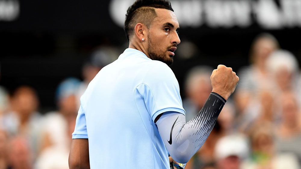 Kyrgios flicks switch, earns Brisbane semi