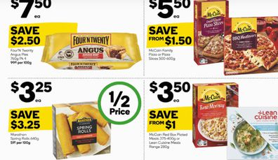 This week at Woolies they have pizza and pies and so many other delicious frozen choices.