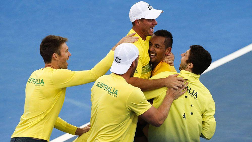 Nick Kyrgios steers Australia to Davis Cup semis after beating US