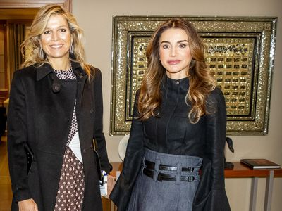 Queen Rania with Queen Maxima, 2019