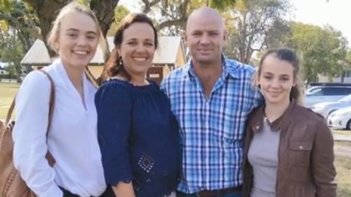 The Everett family, with eldest daughter Meg.