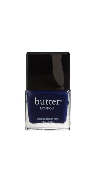 "<a href=""http://www.adorebeauty.com.au/nail-polish/butter-london-nail-lacquer-royal-navy.html"" target=""_blank"">Nail Polish in Royal Navy, $22, Butter London</a>"