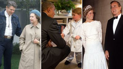 The best photos of the royals meeting US presidents
