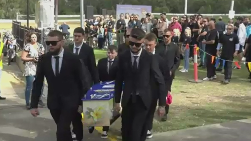 """Mr Gordon was remembered at the ceremony for his """"enthusiasm, tenacity, and genuine love of friends and family."""""""