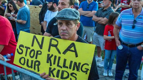 School shootings have sparked protests about the NRA.