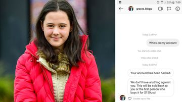 Grace King was sent a message from hackers demanding money in exchange for control of her account.