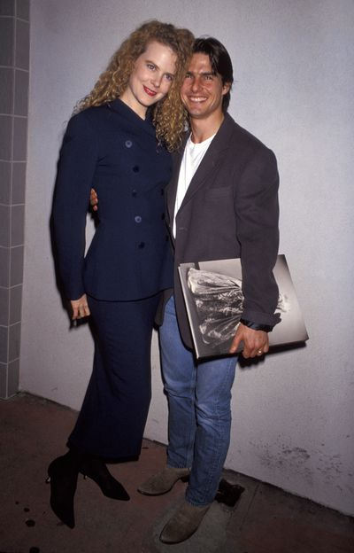 Nicole Kidman and Tom Cruise at the Herb Ritts exhibition opening onOctober 22, 1992 at Fahey/Klein Gallery in LA