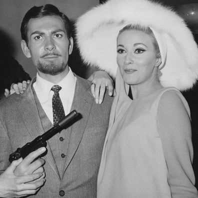 Actor Neil Connery, the brother of James Bond star Sean Connery, poses with actresses Lois Maxwell (left) and Daniela Bianchi (right), at a press conference for the upcoming Bond spoof 'Operation Kid Brother', aka 'OK Connery', Italy, 25th November 1966. (Photo by Keystone/Hulton Archive/Getty Images)