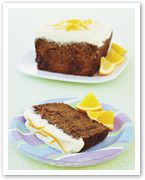 Carrot and sultana loaf with maple icing