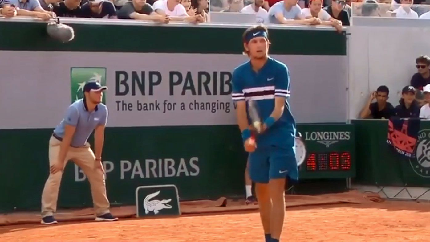 American Jared Donaldson serves underarm in French Open epic against Grigor Dimitrov