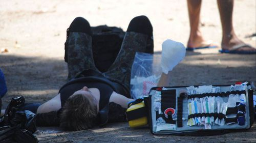 The boy suffered lacerations to his right hand and fingers. (Glenn Ellard/Milton Ulladulla Times)