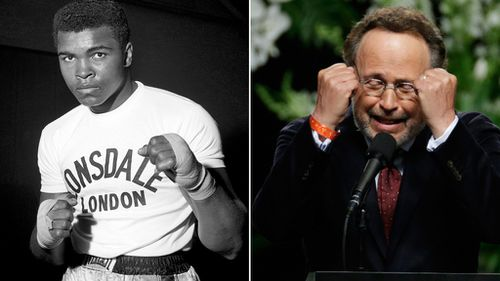 Muhammad Ali and comedian Billy Crystal formed a long friendship after Crystal's Ali impersonation in the 1970s. (AAP)