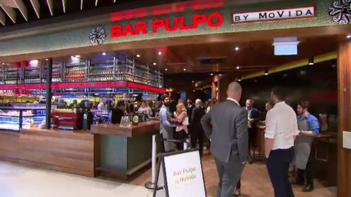 Movida has launched at outpost at T2. (9NEWS)
