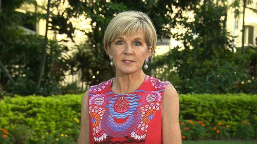 Julie Bishop said polls were not the test of leadership, but who retained the confidence of the Liberal Party.