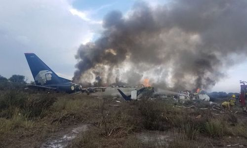 An Aeromexico airliner has crashed shortly after taking off from an airport in Mexico with 103 people on board.