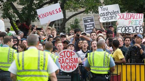 Authorities have promised an enormous police presence to keep both sides apart and avoid the street brawls that broke out last year in downtown Charlottesville.
