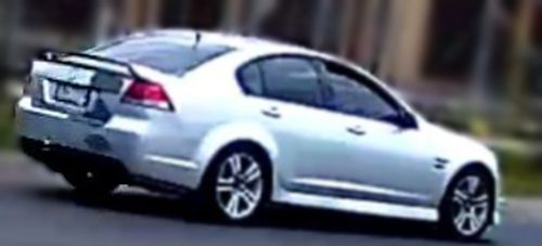 Police think this vehicle was used in the robberies, a silver Holden Commodore VE sedan with partial registration PN.