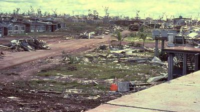 The northern suburb of Wagama was completely flattened. (AAP)