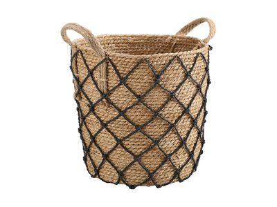 Basket with Black Diamond Detail