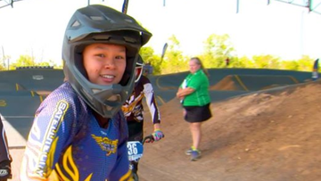 BMX racer Caitlin Jong, 14, was injured on Saturday during a competition in Perth.