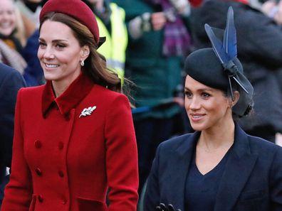 Kate Middleton Duchess of Cambridge, Meghan Markle Duchess of Sussex Sandringham 2018