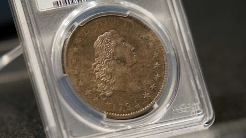 A rare 1794 U.S. silver dollar, said to be among the first ever minted.