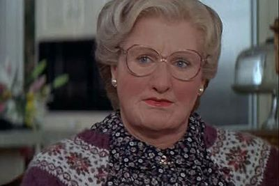 When middle-aged male actor Robin Williams transformed into an elderly female nanny in <i>Mrs Doubtfire</i> he required more than a single body part to achieve the look. Applying sagging skin, body suit complete with bosoms and a nose was all in a day's work for Williams.